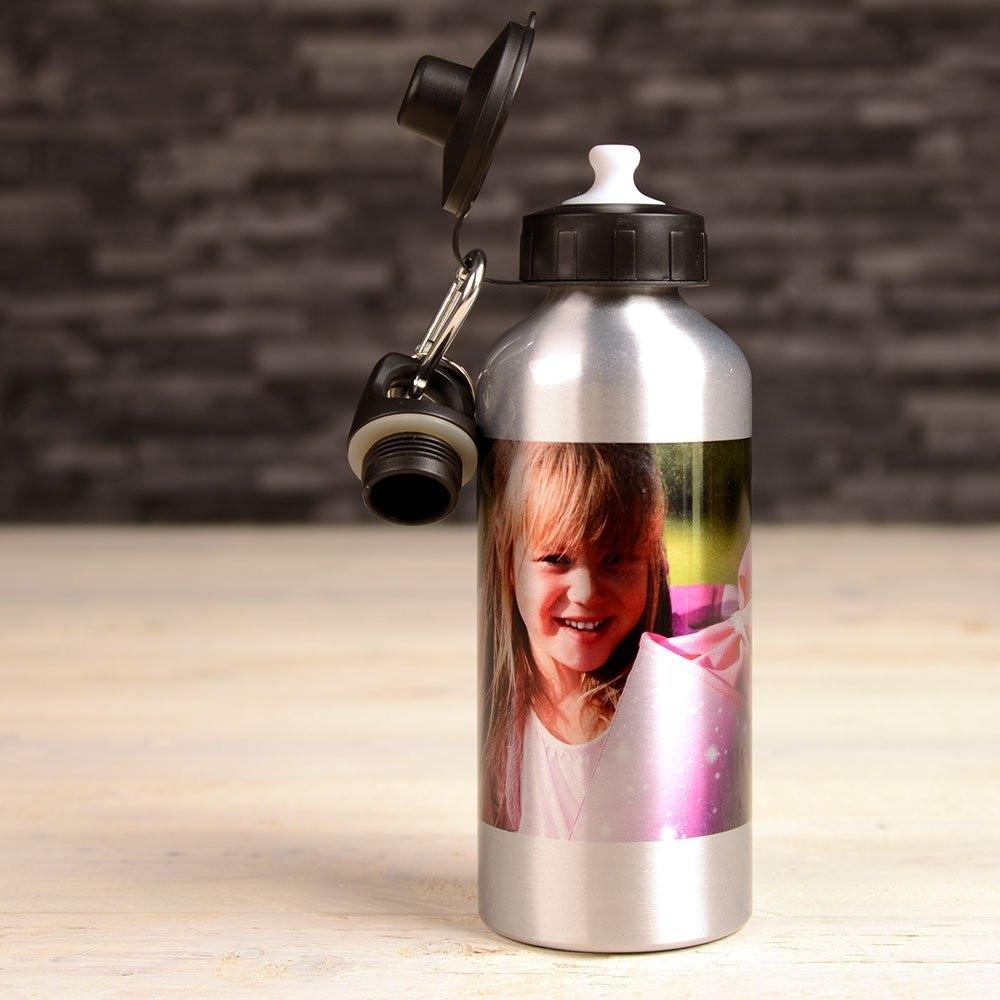 Gourde Alu avec votre photo imprimé - Argent