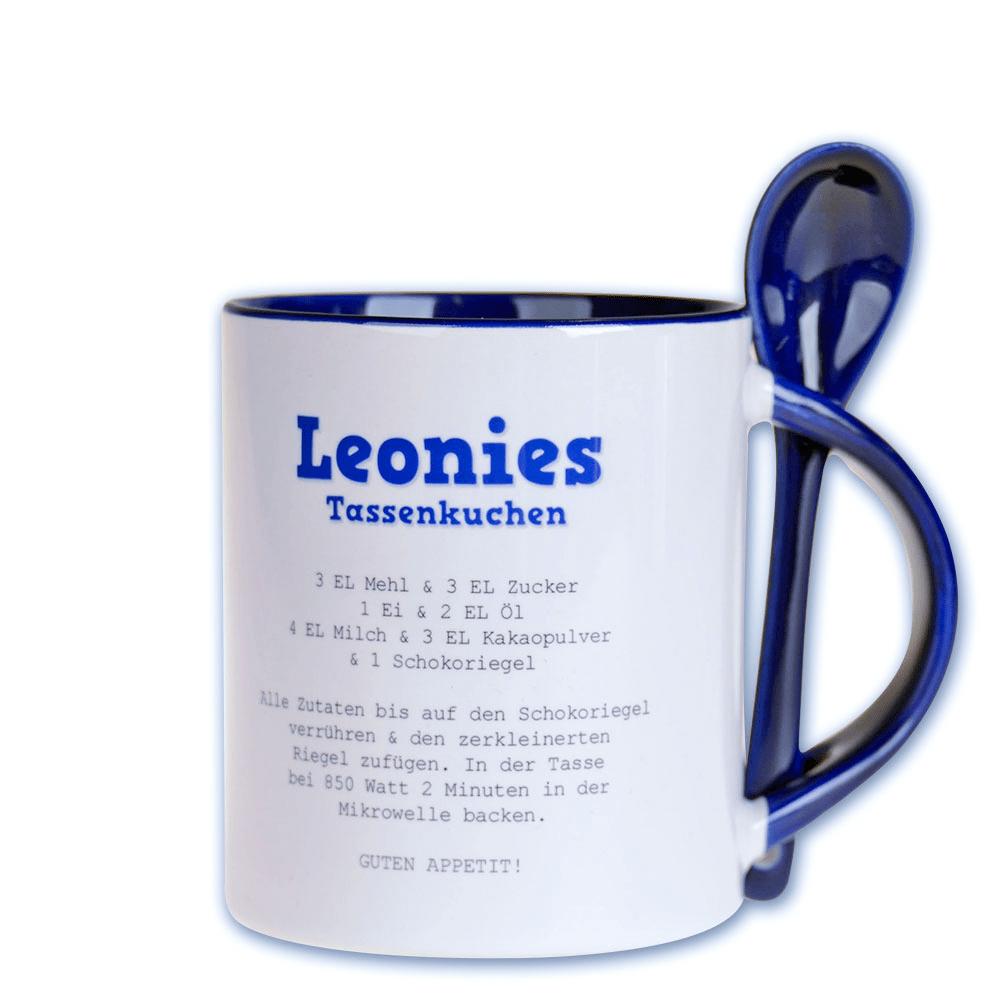 Photo tasse avec cuillère, bleu foncé, avec sa propre photo
