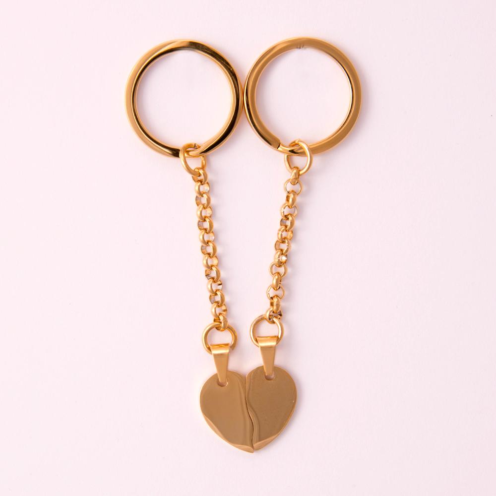 Porte-clés Coeur divisé M, couleur Or