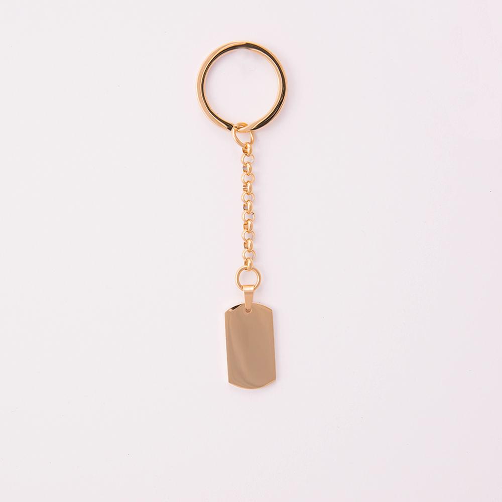 Porte-clés  Dog-Tag M, couleur Or