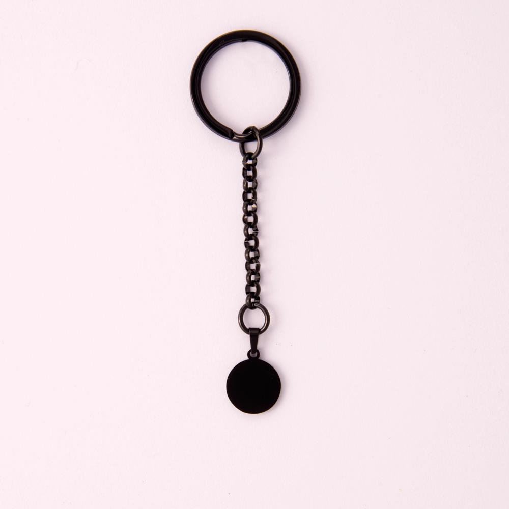 Porte-clés rond S, couleur Noir