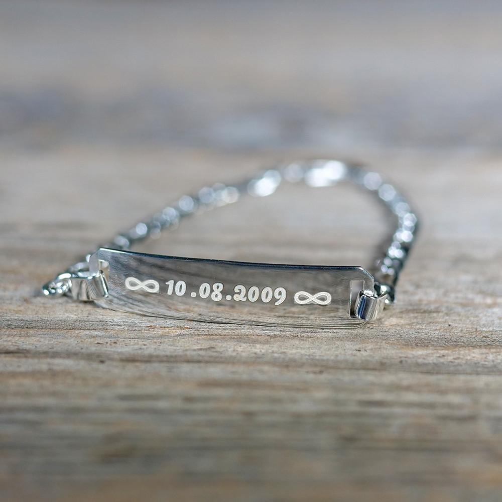 Bracelet en argent sterling 925/1000, 19 cm argent