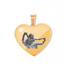Pendentif coeur avec pierre de Swarovski L, couleur Or