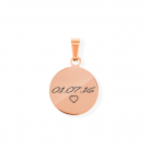 Pendentif Rond S, couleur Or Rose