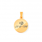 Pendentif Rond S, couleur Or
