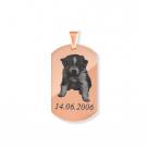 Pendentif Dog Tag M, couleur Or Rose
