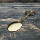 Porte-clés Ovale L, couleur Or