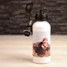 Gourde Alu avec votre photo imprimé - Blanc