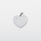 Pendentif coeur avec pierre de Swarovski L, couleur acier