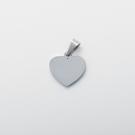 Pendentif coeur avec pierre de Swarovski  M, couleur Acier