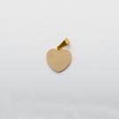 Pendentif coeur avec pierre de Swarovski  M, couleur Or