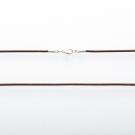 Collier en cuir brun, longueur 80 cm ø2mm