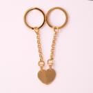 Porte-clés coeur divisé L, couleur Or