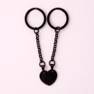 Porte-clés coeur divisé L, couleur Noir