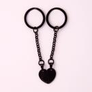 Porte-clés Coeur divisé M, couleur Noir