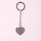 Porte-clés coeur avec pierre Swarovski L, couleur Acier