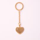 Porte-clés coeur avec pierre Swarovski L, couleur Or