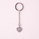 Porte-clés coeur avec pierre Swarovski M, couleur Acier