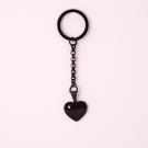 Porte-clés coeur avec pierre Swarovski M, couleur Noir