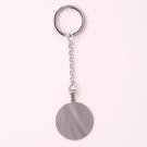 Porte-clés rond L, couleur Acier