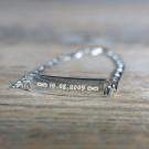 Bracelet en argent sterling 925/1000, 16 cm argent
