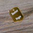 Pendentif Dog-Tag argent sterling 925/1000 plaqué or