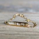 Bracelet Coeur en argent sterling 925/1000, 19 cm plaqué Or