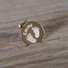 Pendentif rond en argent sterling 925/1000, plaqué or rose