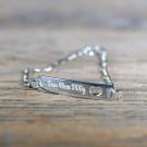 Bracelet Coeur en argent sterling 925/1000, 16 cm Argent