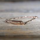 Bracelet en argent sterling 925/1000, 19 cm plaqué Or Rose