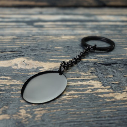 Porte-clés Ovale L, couleur Noir