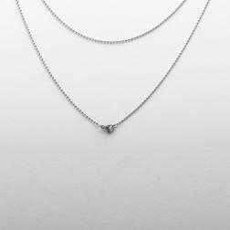Chaîne à billes en acier inoxydable avec mousqueton, 60 cm de long, acier