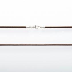 Collier en cuir brun, longueur 80 cm ø 3mm