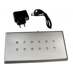 Socle lumineux Argon + prise USB