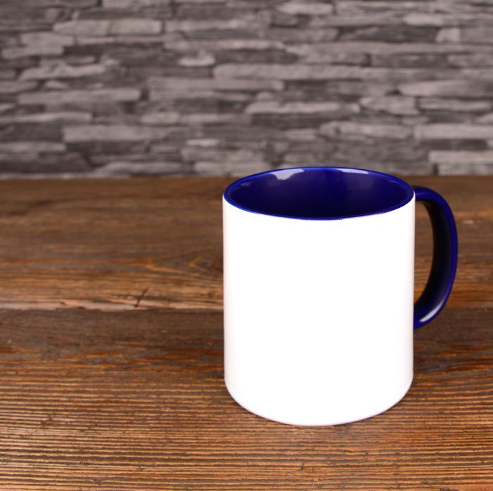 mug photo bleu foncé